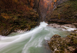 Autumn in the Vintgar Gorges