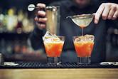 Strawberry Basil Balsamic Shrub Cocktail