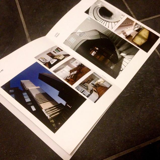 Brochure design - open