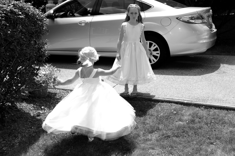 Flower girls, wedding photography