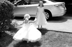Flower girls, wedding photography