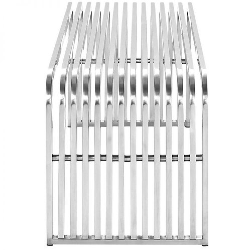 Stainless Steel Bench – Silver