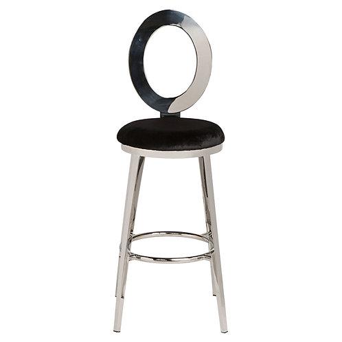 Black Mirrored Stool