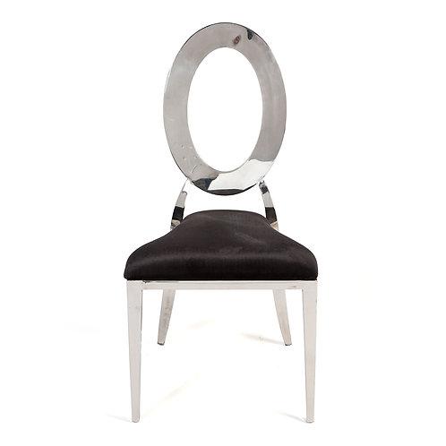 O Chair Silver/Black