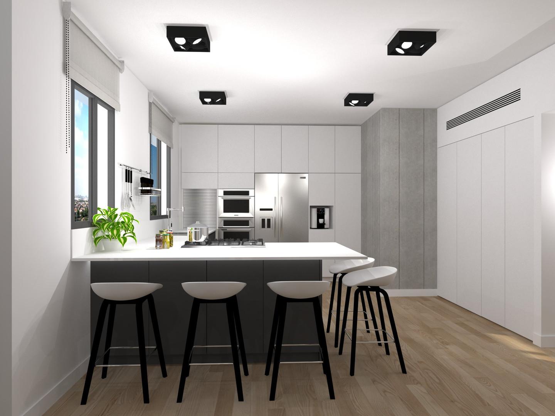 תיכנון מטבח בדירת קבלן