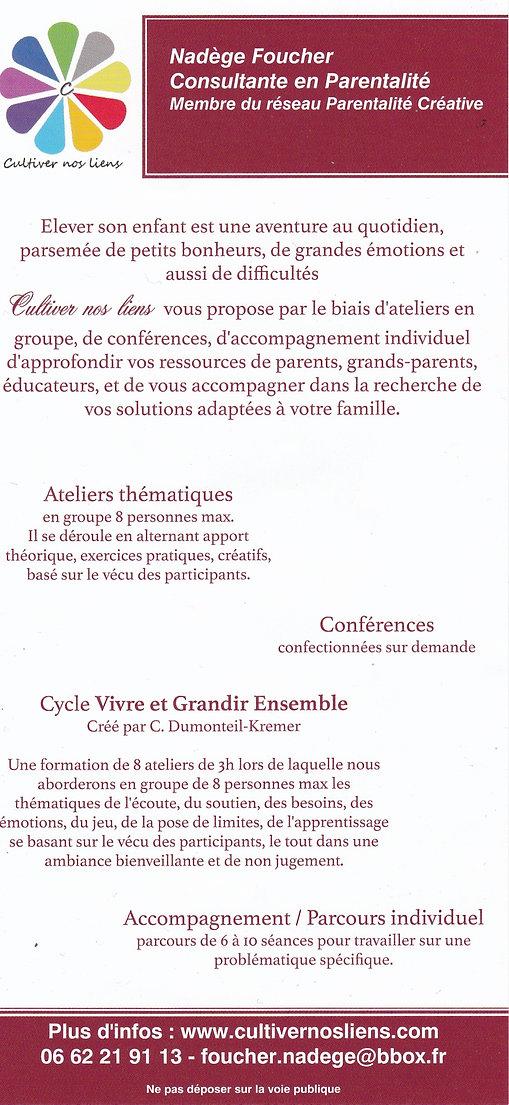 Cultiver nos liens - Nadège Foucher - Parentalité en Isère - 38