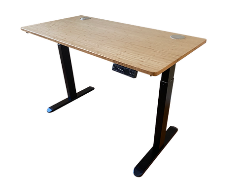 Bamboo desk top with 2-stage frame