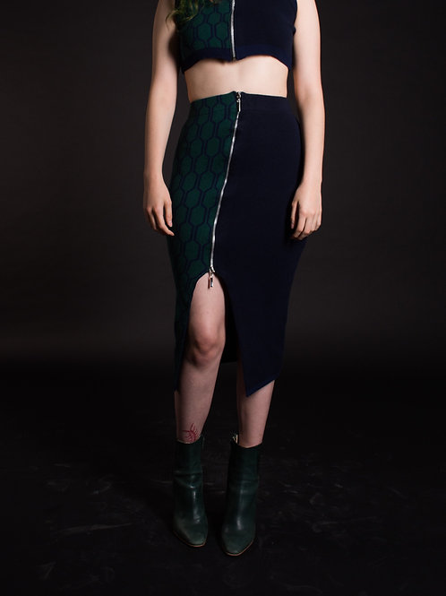 Half Green Skirt