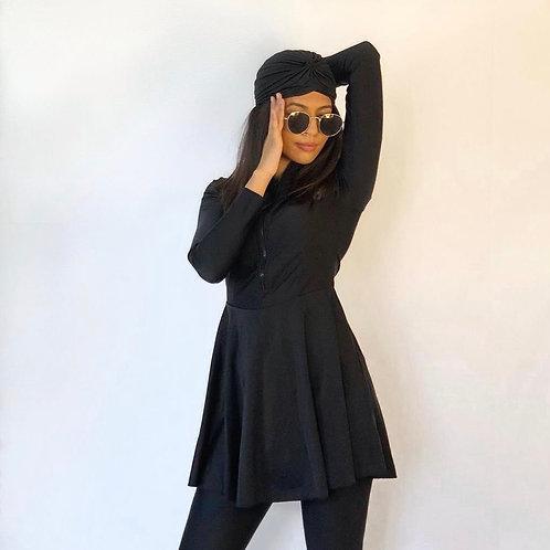 BEIRUT BLACK SWIMDRESS