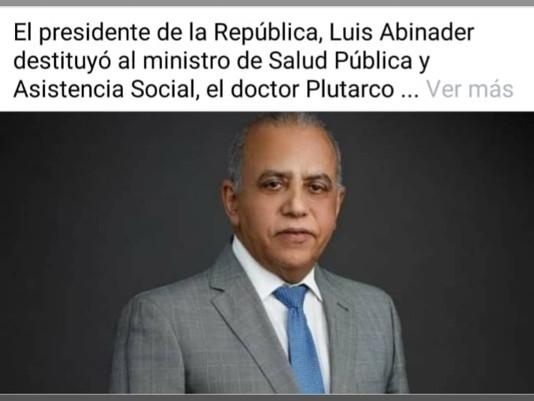 Destituyen a Plutarho Arias ministro de salud pública