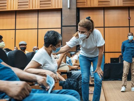 Alcaldesa  Mejía destacó como exitosa jornada de vacunación comunitaria en el Distrito Nacional