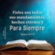Los mandamientos son eternos. Rafael Dia