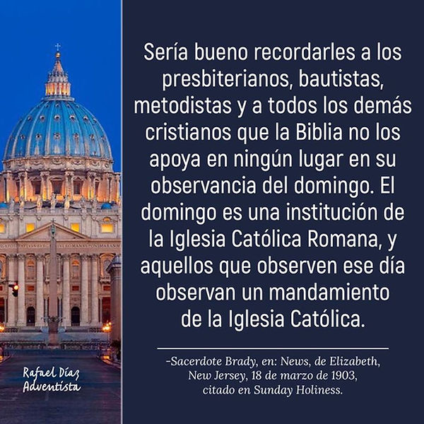 EL Domingo es una institución católica 3