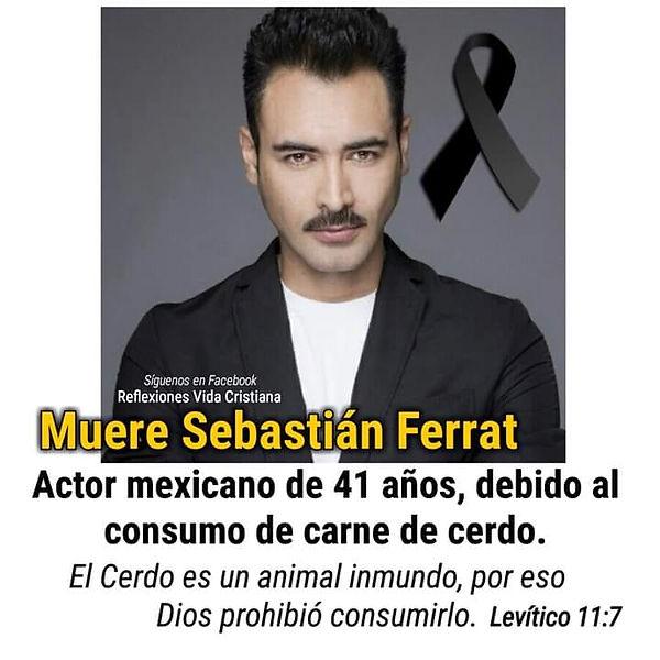 Actor Sebastian Ferrat muere por consumo