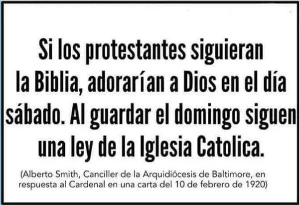 Si los protestantes siguieran la Biblia.