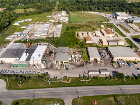 Business Aerial Photography at SRT Aluminum in Wabash, Indiana