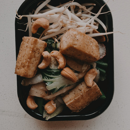 Pad Thaï au tofu, miel et gingembre