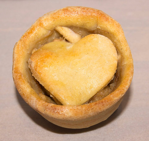 Apple Heart Tart - 1/2 Dozen