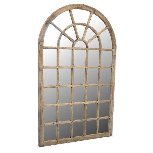 Tall bleached mahogany mirror