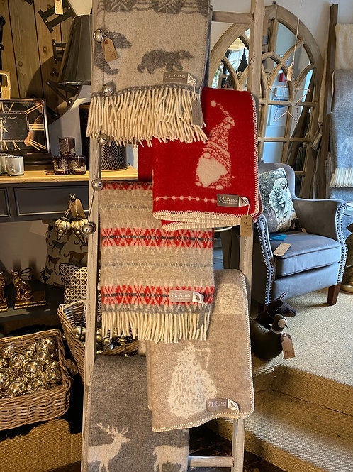 Pure wool scandinavian style blankets and throws