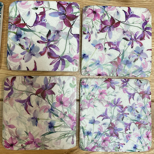 blossom coasters x 4