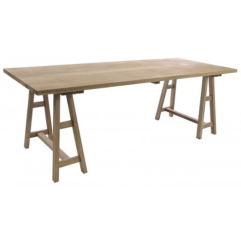 Vintage large trestle table