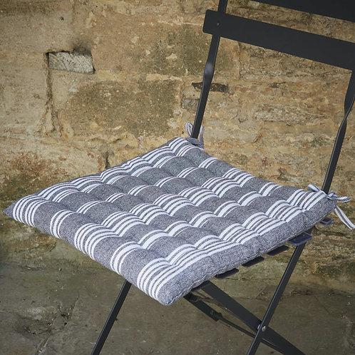 Striped seat cushions