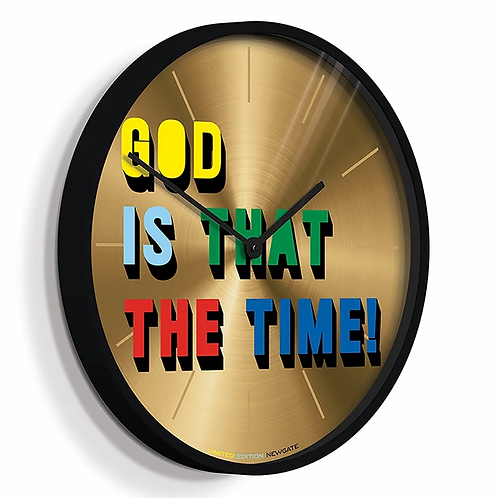 Newgate 'God is that the time?' wall clock