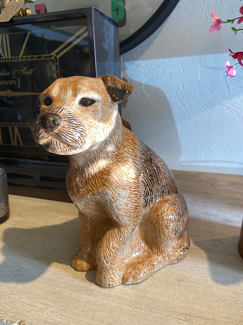 Border Terrier Ceramic Flower Vase