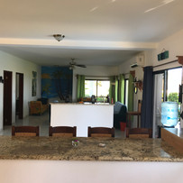 View from kitchen to living room