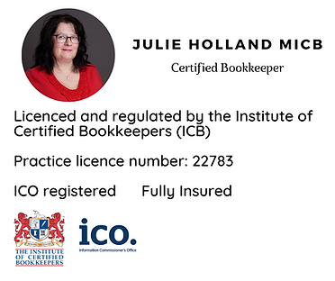Licenced and regulated by the Institute of Certified Bookkeeprs (ICB). Practice licence nu