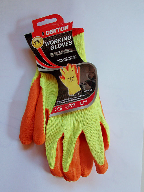 Working gloves orange/cream size 9/large