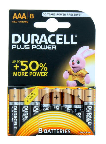 DURACELL AAA PLUS POWER 8'S