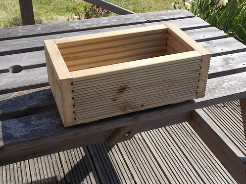 Small heavy duty wooden planter