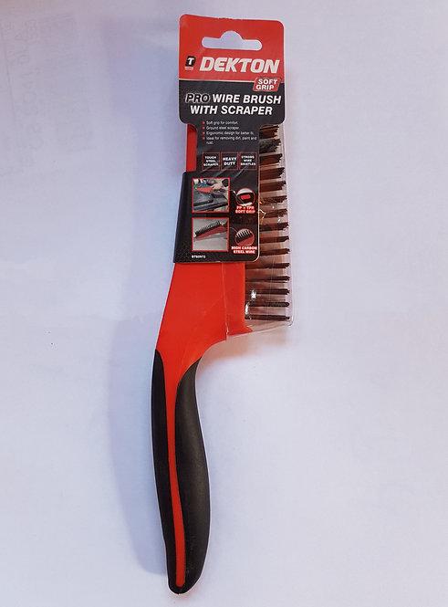 Wire brush pro 14'' with scraper
