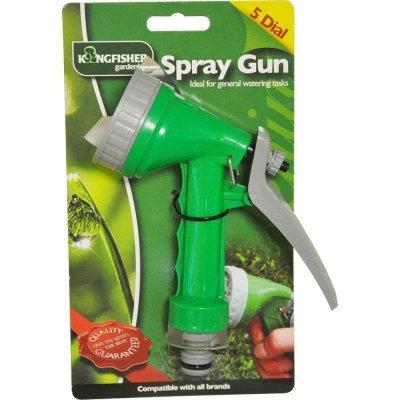 GARDEN HOSE 5 DIAL SPRAY GUN