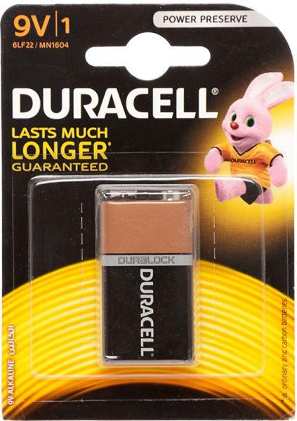 Duracell Alkaline 9V / MN1604 Batteries