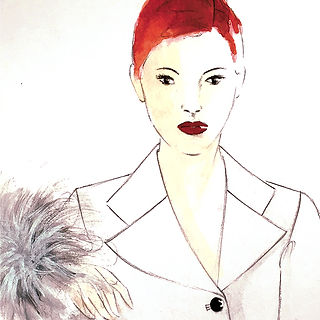 ©angelagstalter fashion illustration, watercolour