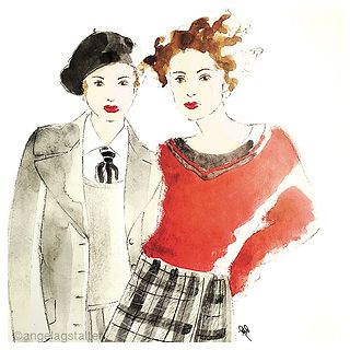 ©angelagstalter , fashion illustration, watercolour, modezeichung, modeillustration