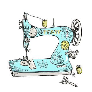 ©angelagstalter kidsillustration, childrensbookillustration, editorial illustration, sewing machine