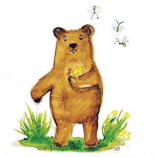 ©angelagstalter kidsillustration, childrensbookillustration, bear