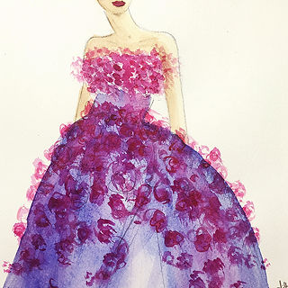©angelagstalter , fashion illustration, haute couture illustration