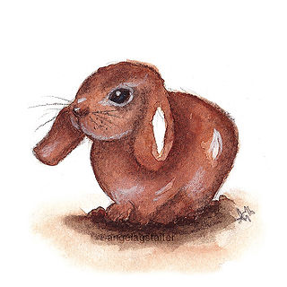 ©angelagstalter kidsillustration, childrensbookillustration, mixed media, rabbit
