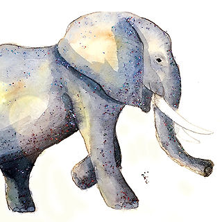 ©angelagstalter kidsillustration, childrensbookillustration, elephant, watercolor