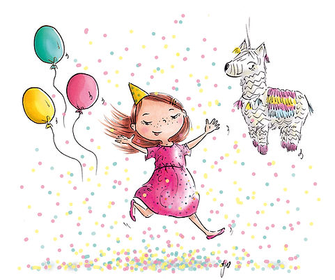 Kinderbuch Illustration, children's book illustration, character design, cute illustration, Kinderbuchillustration, birthday illustration, birthday card, Geburtstag ©angelagstalter