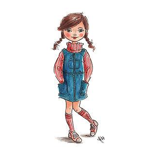 ©angelagstalter , fashion illustration, kid's fashion illustration, modezeichnung, modeillustration