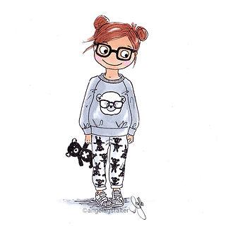 ©angelagstalter , fashion illustration, watercolour, modezeichung, modeillustration, girl's fashion illustration