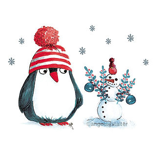 ©angelagstalter kidsillustration, childrensbookillustration, christmas illustration