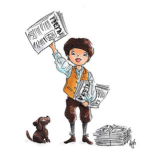 ©angelagstalter kidsillustration, childrensbookillustration, paperboy