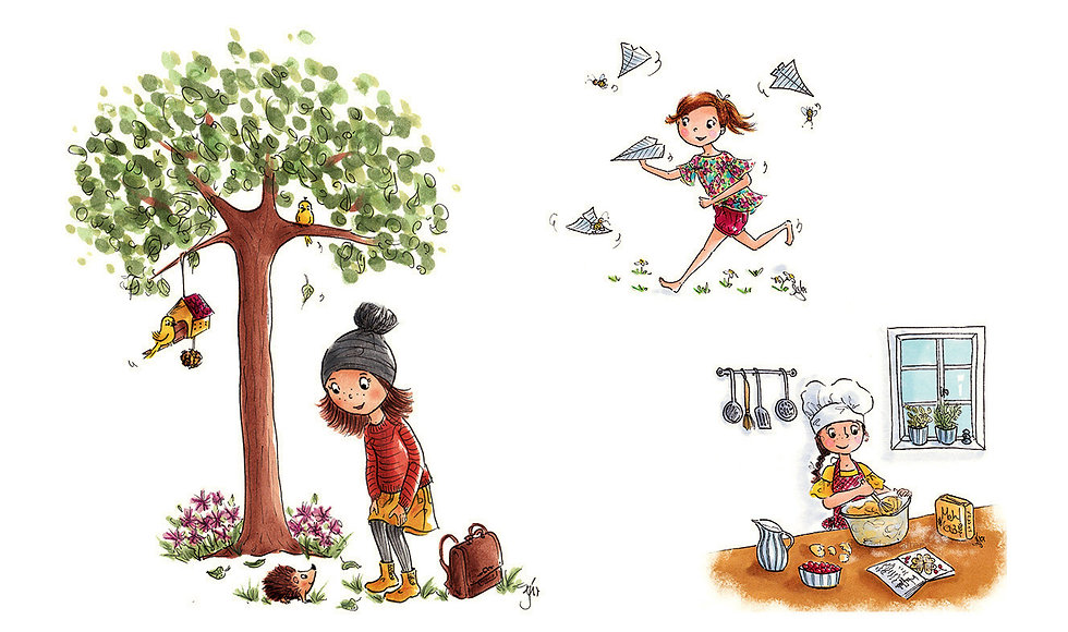 Kinderbuchillustration, Children's book illustration, cute, character design, colourful, niedlich,